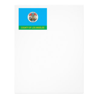 County of Los Angeles flag Letterhead