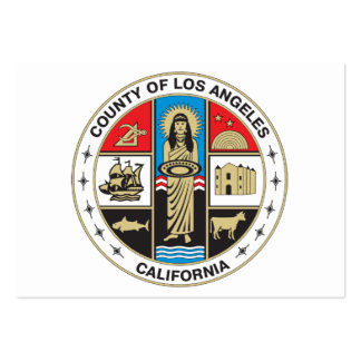 County of Los Angeles seal Large Business Cards (Pack Of 100)