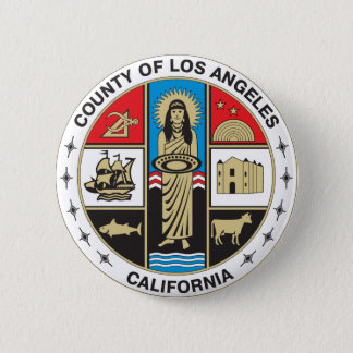 County of Los Angeles seal Button