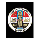County of Los Angeles seal Post Card