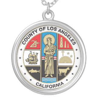 County of Los Angeles seal Silver Plated Necklace