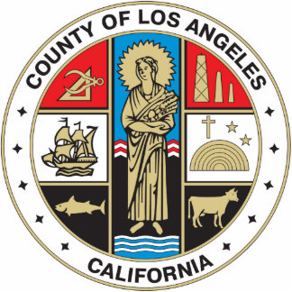 County of Los Angeles seal Statuette
