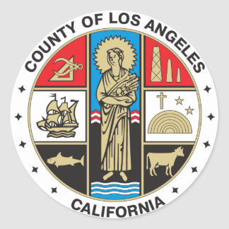 County of Los Angeles seal Round Stickers
