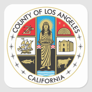 County of Los Angeles Square Sticker