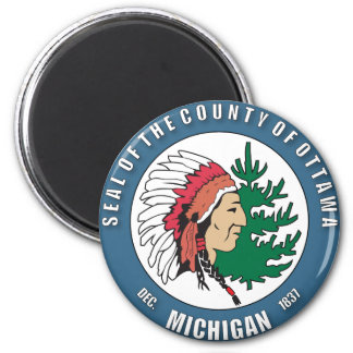 County of Ottawa seal Refrigerator Magnets