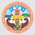 County of San Diego seal Round Stickers