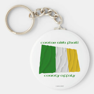 County Offaly Colours Basic Round Button Keychain
