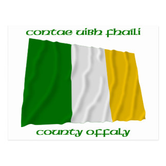 County Offaly Colours Postcard