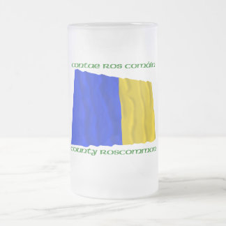 County Roscommon Colours Frosted Glass Beer Mug