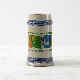 County Roscommon Flags Beer Stein