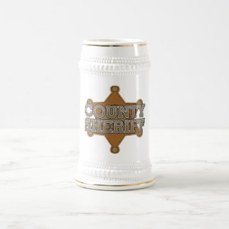 County Sheriff Beer Stein