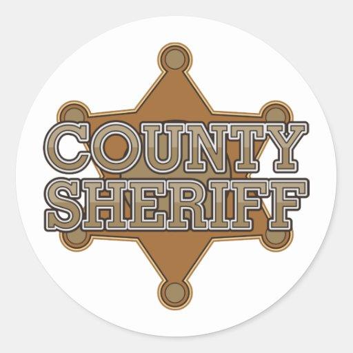 County Sheriff Classic Round Sticker