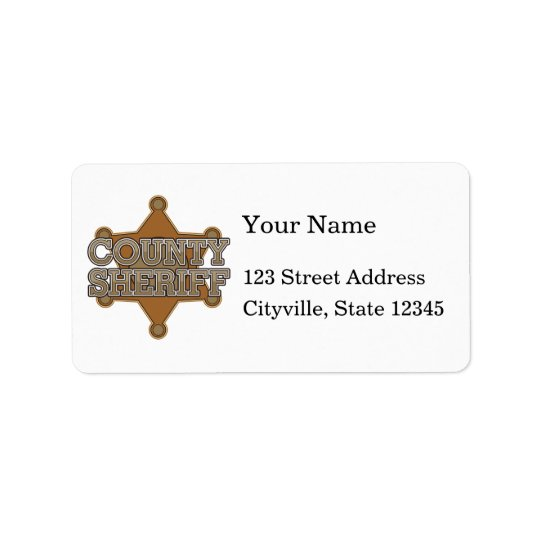 County Sheriff Label