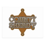 County Sheriff Postcard