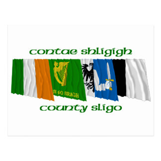 County Sligo Flags Postcard