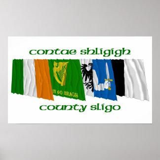 County Sligo Flags Poster