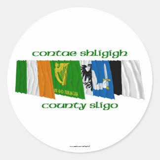 County Sligo Flags Round Sticker