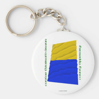 County Tipperary Colours Basic Round Button Keychain