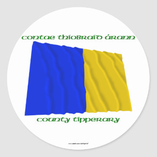 County Tipperary Colours Classic Round Sticker