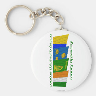 County Tipperary Flags Basic Round Button Keychain