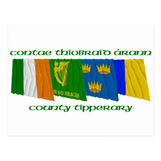 County Tipperary Flags Postcard