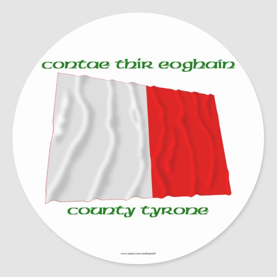 County Tyrone Colours Classic Round Sticker