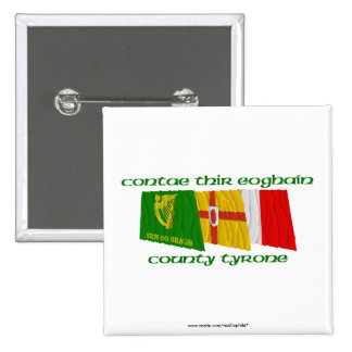County Tyrone Flags Button