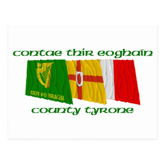 County Tyrone Flags Postcard