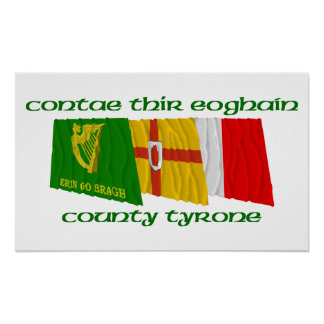 County Tyrone Flags Poster