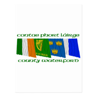 County Waterford Flags Postcard