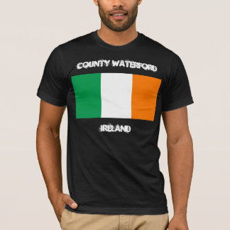 County Waterford, Ireland with Irish flag T-Shirt