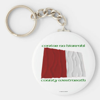 County Westmeath Colours Basic Round Button Keychain