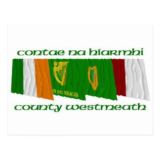 County Westmeath Flags Postcard