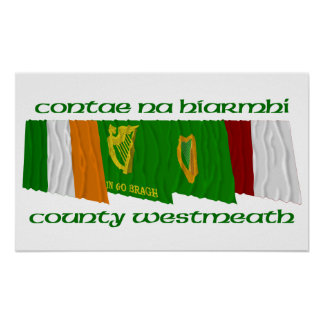 County Westmeath Flags Poster