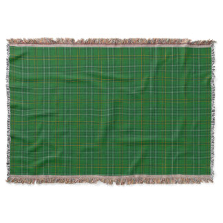 County Wexford Irish Tartan Throw Blanket