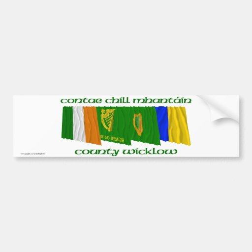 County Wicklow Flags Car Bumper Sticker