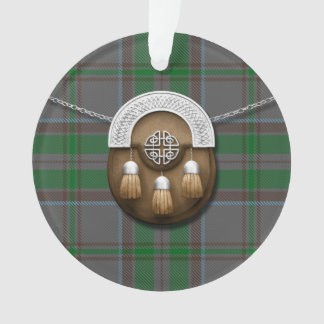 County Wicklow Irish Tartan And Sporran Ornament