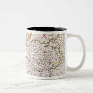 Countye Palatine of Chester, engraved by Two-Tone Coffee Mug