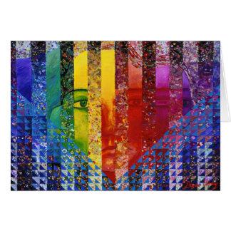 Counundrum I – Rainbow Woman Greeting Card