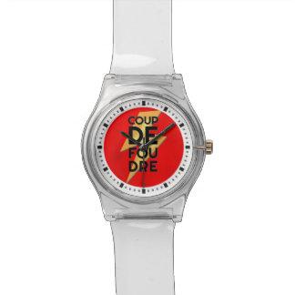 Coup de Foudre - francés del rayo Reloj De Mano