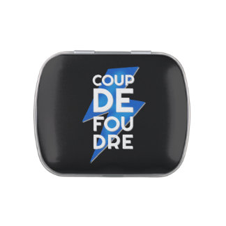 Coup de Foudre - French Expression Lightning Bolt Candy Tins