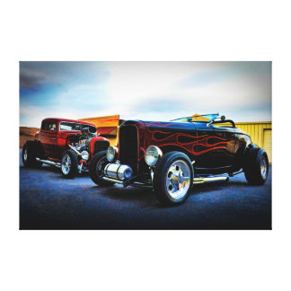 coupe and roadster hot rod heaven canvas print