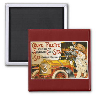 Coupe Pilette Vintage Spanish Automobile Poster 2 Inch Square Magnet
