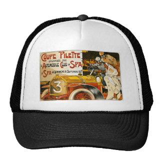 Coupe Pilette Vintage Spanish Automobile Poster Trucker Hat