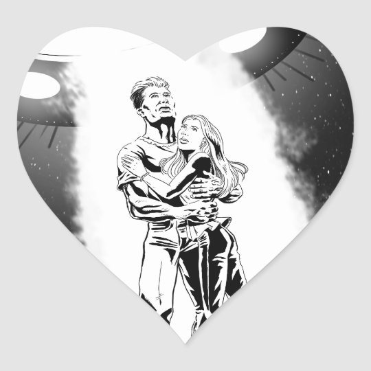 Couple Abduction Heart Sticker
