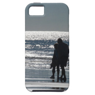 Couple and Their Dog by the Ocean - Personalizable iPhone SE/5/5s Case