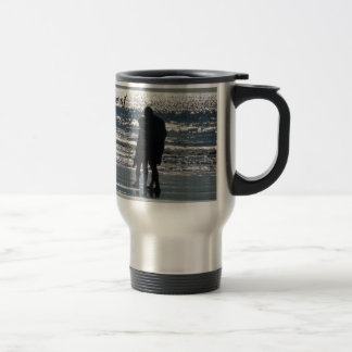 Couple and Their Dog by the Ocean - Personalizable Travel Mug