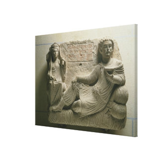 Couple at a banquet, tomb find from Palmyra, Syria Canvas Print