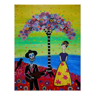 COUPLE AT CEMETERY POSTER