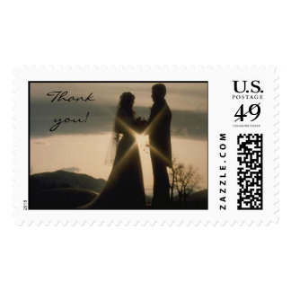 Couple at Sunset  Stamp